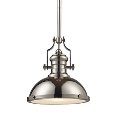 13-Inch Polished Nickel Vintage Pendant Light