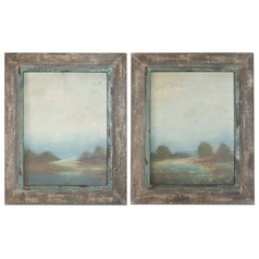 Uttermost Morning Vistas Framed Art, Set of 2