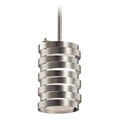 Kichler Lighting Roswell Brushed Nickel Mini-Pendant Light with Cylindrical Shade
