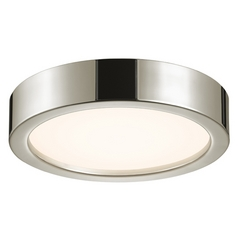 Sonneman Lighting Puck Polished Nickel LED Flushmount Light
