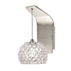 WAC Lighting Gia Brushed Nickel LED Sconce