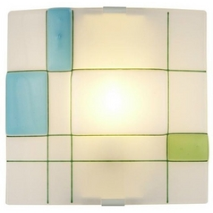 Oggetti Lighting Appliquations Mondrian White Sconce