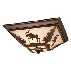 Yellowstone Burnished Bronze Flushmount Light by Vaxcel Lighting