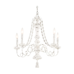 Chandelier in Provencal Blanc Finish