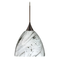 Besa Lighting Sasha Bronze LED Pendant Light