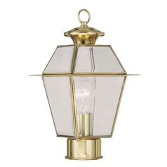 Livex Lighting Westover Polished Brass Post Light