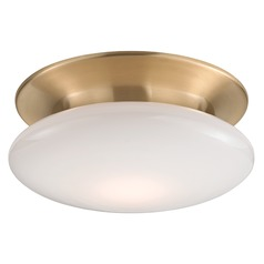 Irvington LED Flushmount Light - Satin Brass