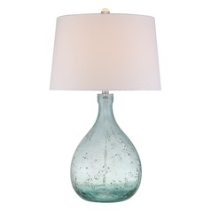 Quoizel Lighting Quoizel Portable Lamp Blue Table Lamp with Empire Shade