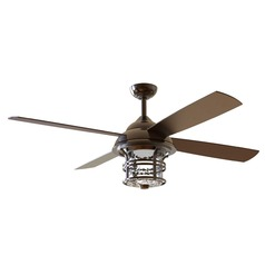Craftmade Lighting Courtyard Oiled Bronze LED Ceiling Fan with Light