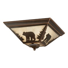 Bozeman Burnished Bronze Flushmount Light by Vaxcel Lighting
