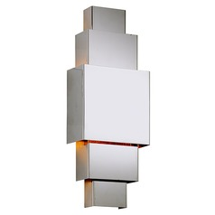 Troy Lighting Figueroa Polished Stainless LED Outdoor Wall Light 2700K 840LM