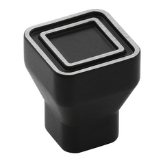 Galleria Hardware Silvered Black Cabinet Knob BP53025-SBK