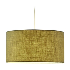 Adesso Home Lighting Harvest Burlap Pendant Light