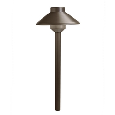 Kichler Lighting Landscape LED Bronzed Brass LED Path Light