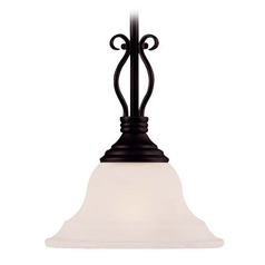 Savoy House English Bronze Mini-Pendant Light with Bell Shade