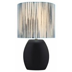 Lite Source Lighting Reiko Black Table Lamp with Oval Shade