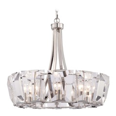 Metropolitan Castle Aurora Polished Nickel Crystal Chandelier