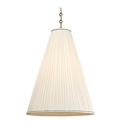 Blake 1 Light Pendant Light - Aged Brass