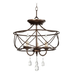 Quorum Lighting Cilia Oiled Bronze Pendant Light