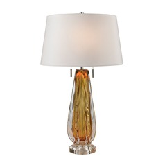 Dimond Lighting Amber Table Lamp with Empire Shade