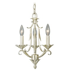 Austen Silver Leaf Mini-Chandelier by Vaxcel Lighting