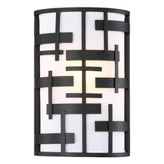 Nuvo Lighting Lansing Textured Black Sconce