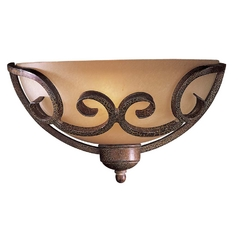 Minka Lighting, Inc. Sconce with Beige / Cream Glass in Golden Bronze Finish 720-355