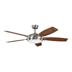Kichler Fan with Light in Brushed Stainless Steel Finish