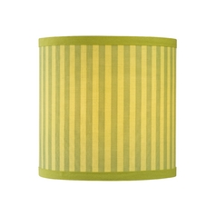 Green Drum Lamp Shade with Stripes
