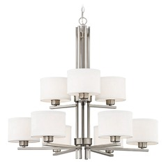 Dolan Designs Tecido Satin Nickel Chandelier