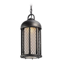 Troy Lighting Signal Hill Aged Silver Outdoor Hanging Light