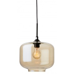 Nuevo Lighting Charles Black Mini-Pendant Light with Drum Shade