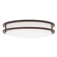 LED Flush Ceiling Light Bronze 17-Inch