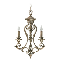 Quorum Lighting Barcelona Mystic Silver Mini-Chandelier