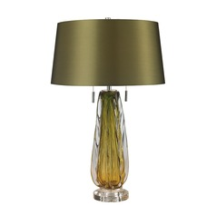 Dimond Lighting Green Table Lamp with Empire Shade