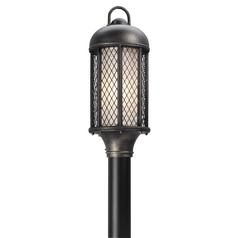 Troy Lighting Signal Hill Aged Silver Post Light