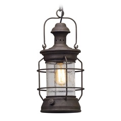 Troy Lighting Atkins Centennial Rust Outdoor Hanging Light