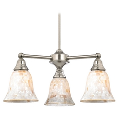 Mosaic Glass Mini-Chandelier in Satin Nickel Finish