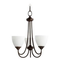 Quorum Lighting Brooks Oiled Bronze Mini-Chandelier