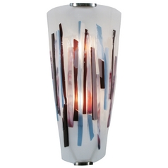 Oggetti Lighting Splash Satin Nickel Sconce