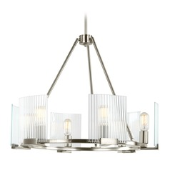 Sea Gull Lighting Storey Brushed Nickel Chandelier