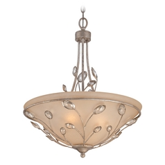 Quoizel Lighting Wesley Italian Fresco Pendant Light with Bowl / Dome Shade