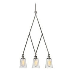 Hinkley Gatsby 3-Light Chandelier in Polished Antique Nickel