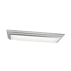 Kichler Modern Flushmount Light with White in Silver Various Finish