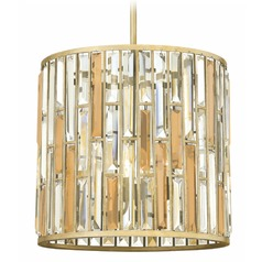 Contemporary Crystal Pendant Light - 16-Inches Wide