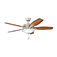 Kichler Lighting Rokr Brushed Nickel Ceiling Fan with Light
