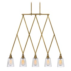 Hinkley Gatsby 5-Light Chandelier in Heritage Brass