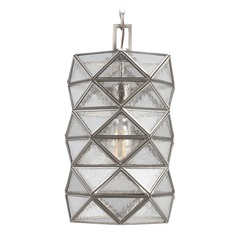 Art Deco Seeded Glass Mini-Pendant Light Antique Brushed Nickel Harambee by Sea Gull Lighting