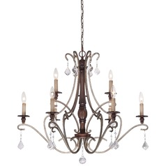 Minka Gwendolyn Place Dark Rubbed Sienna with Aged Silver Chandelier