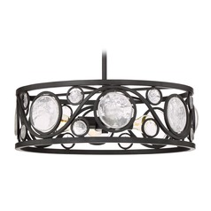 Art Deco Pendant Light Black Jubilee by Quoizel Lighting